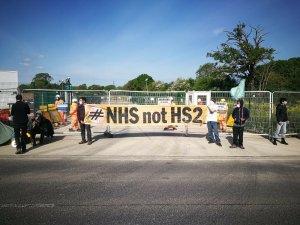 HS2 Rebellion blockade multiple HS2 crime sites from Euston to Warwickshire