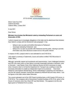 A Letter To The Cabinet Secretary
