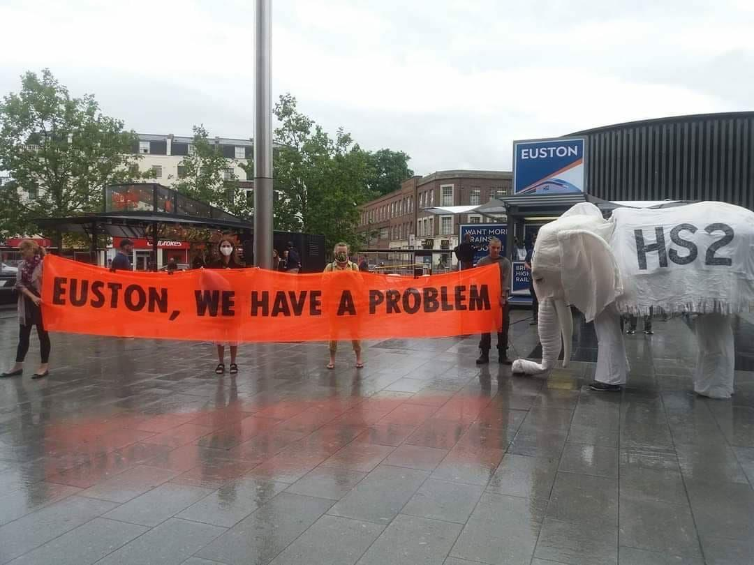 """Police Arrest Nelly – The Stop HS2 """"White Elephant"""""""