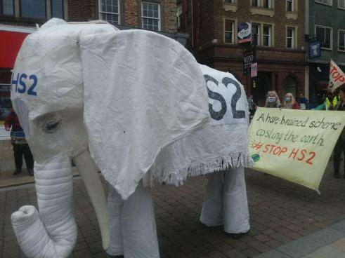 Nelly the Elephant and banner
