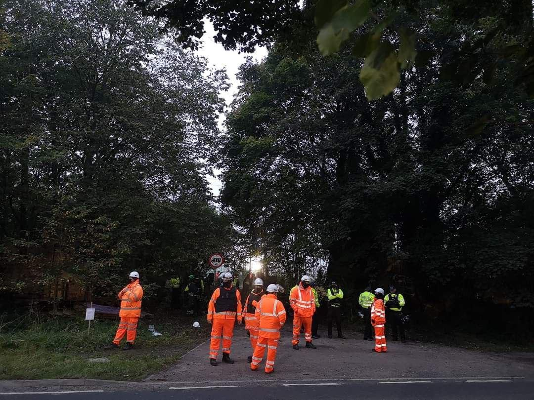 HS2 are unlawfully evicting WAR camp – Happening now