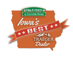 H&S Feed Iowa's Best Traeger Dealer Logo