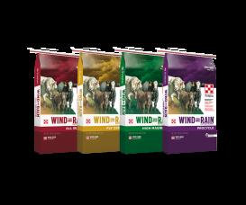 4 bags of Purina Wind & Rain Cattle Minerals