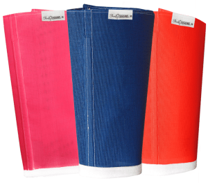 The Shoofly Leggins™ in stock are pink, blue and orange.