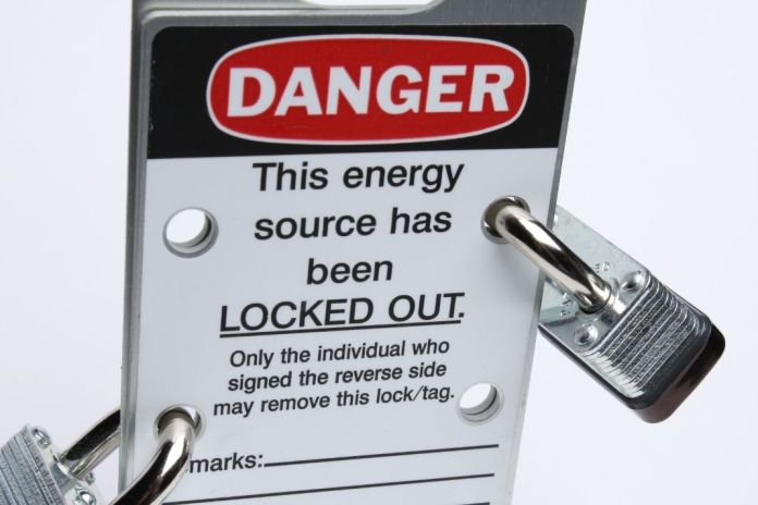 Step 5 Stored Energy Check - Lockout Tagout