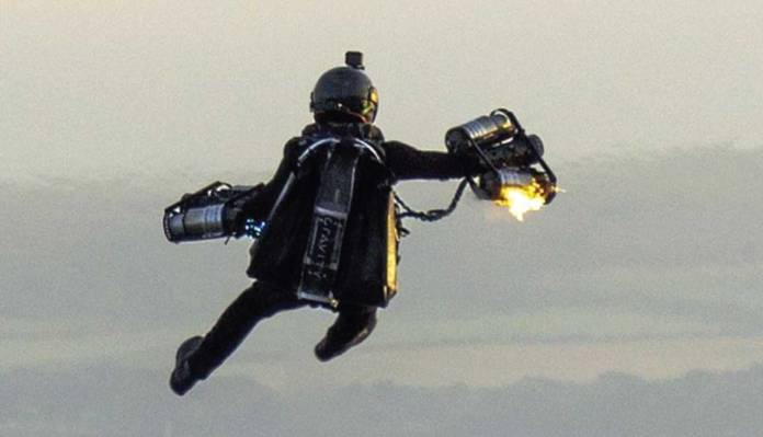 Daredevil In Jetpack Plunges Into Sea After Equipment Catches Fire