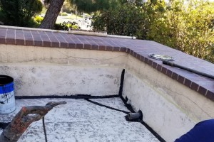 Repairing and waterproofing a balcony.
