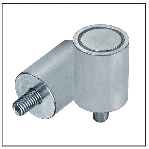 NdFeB Cylindrical Pot Magnets steel body with internal neck