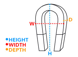dimensions-horseshoe-magnets