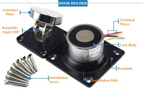 Electromagnetic Door Holder Explod Image