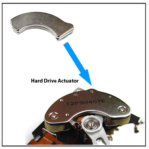 HDD Head-Actuator Rare Earth Sintered Neodymium Magnet