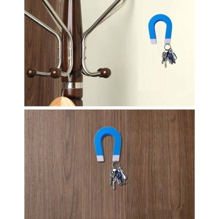 Horseshoe U-Shaped Magnetic Key Holder application