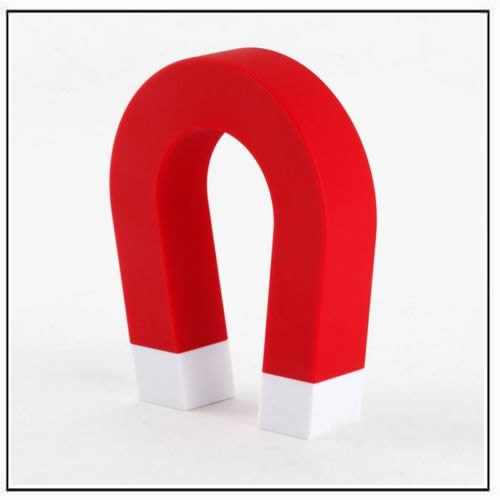 U-shaped Magnetic Key Holder Red