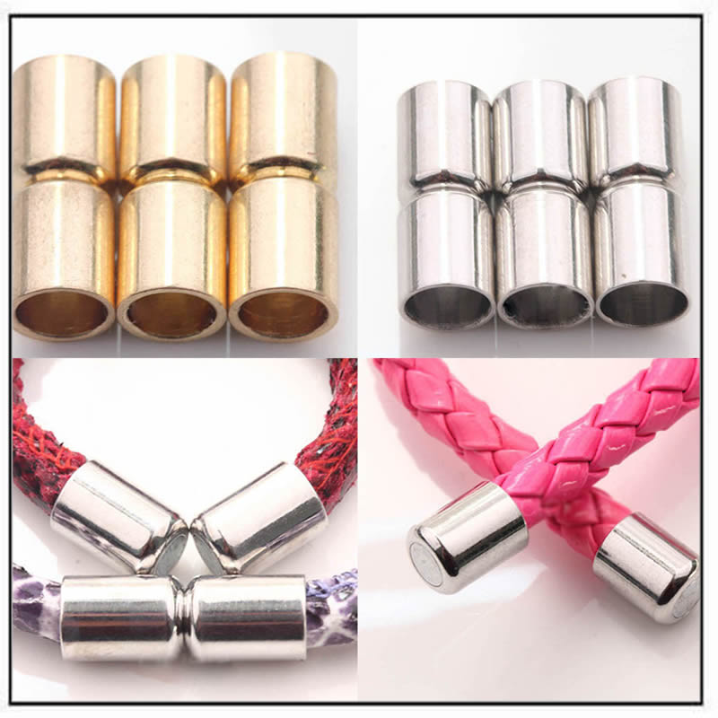 gold-silver-plated-column-magnet-clasps-connectors-jewelry-findings
