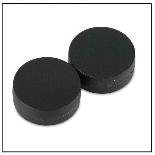 3-4″-dia-x-3-8″-thick-disc-plastic-coated-black-neodymium-magnet