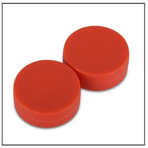 3-4″-dia-x-3-8″-thick-disc-plastic-coated-red-neodymium-magnet