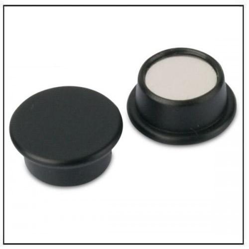 Black Round Office Neodymium Magnet in Plastic Housing