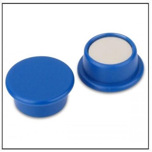 Blue Round Office Neodymium Magnet in Plastic Housing