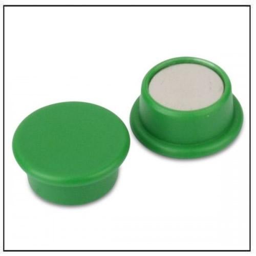 Green Round Office Neodymium Magnet in Plastic Housing