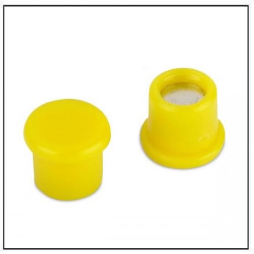 Office Neodymium Magnet with Yellow Plastic Coating