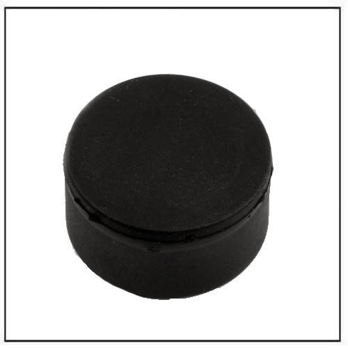 Ø 22 x 11.4 mm Black Rubber Covered Neodymium Disc Magnet