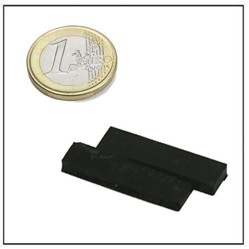 39 x 12 x 5mm Black Rubber Coating Long Bar Neodymium Magnets