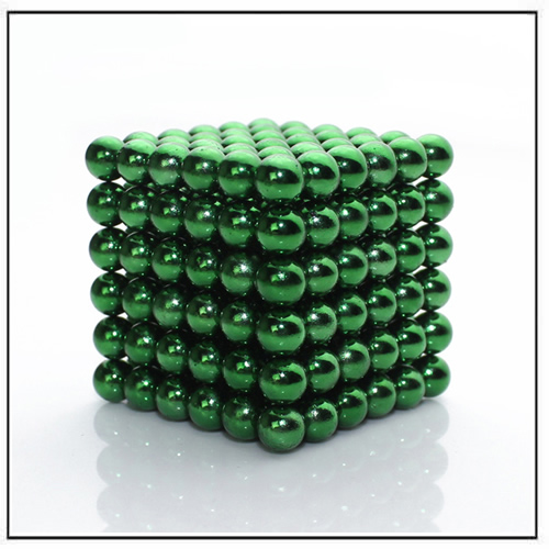Buckyballs Neocube Neodymium Rare Earth Magnet Set Light Green