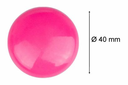 Cute Round Plastic Coated Magnetic Button Ferrite Magnets 40mm