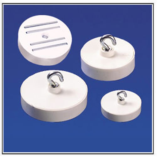Round Ceiling Magnets with Plastic Body, Hook