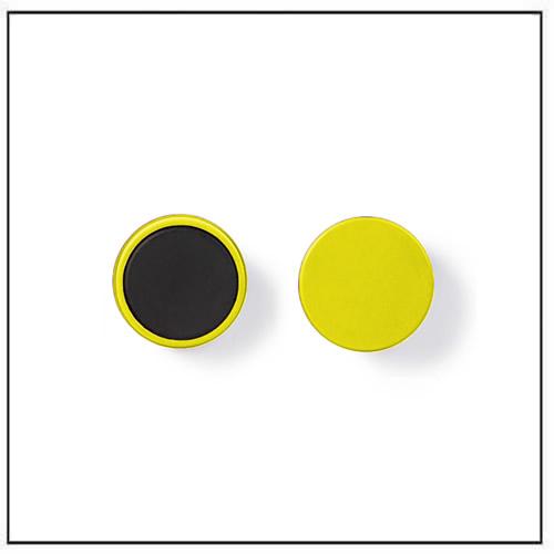 Round Ferrite Plastic Magnets Yellow