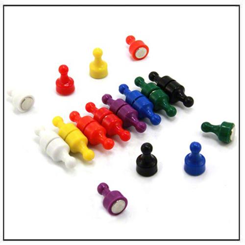 12mm dia x 21mm Rainbow Skittle Magnets
