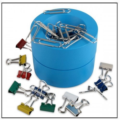 Magnetic Paperclip Dispenser Blue