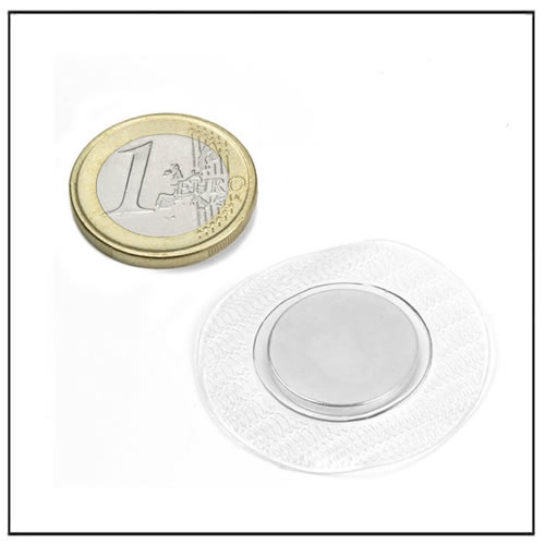 18 x 2 mm Invisible Hidden Sewing Magnets with Clear Plastic Cover