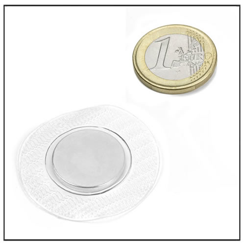 20 x 2 mm Neodymium Sewing Magnets w Circular PVC Cover