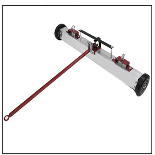 Auto Release 3-Way Tow Behind Magnetic Sweeper