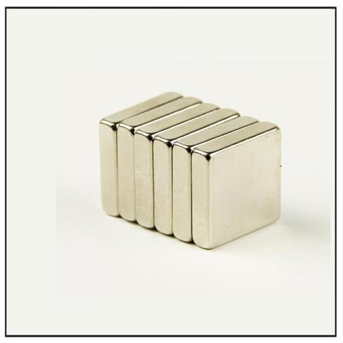 Block Rare Earth Sintered Neodymium Magnets 10 x 10 x 2 mm