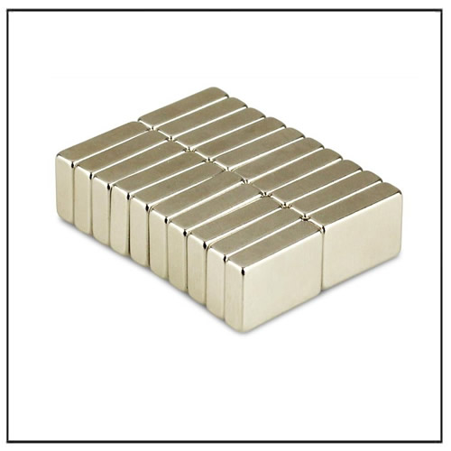 NdFeB Block Strong Magnets N52 17 x 12 x 5 mm Nickel Coating