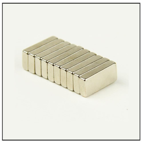 Neodymium Block Magnets 10 x 5 x 2 mm N45 Nickel Plating