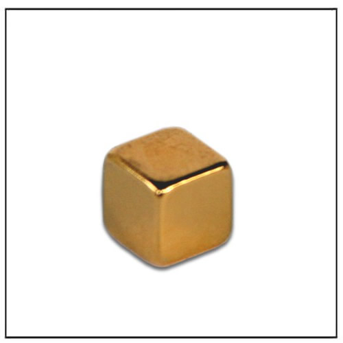 5mm Cube Golden Coated Neodymium Magnets