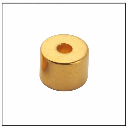 Tube Golden Coating NdFeB Magnets
