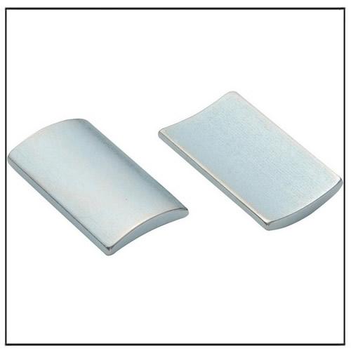 Zinc Plated Sintered Neodymium Arc Magnet
