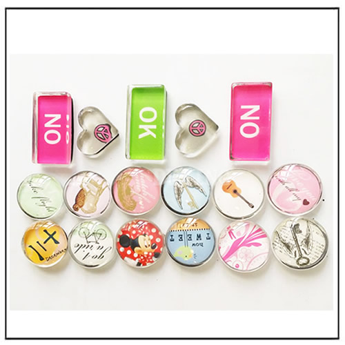 Button Crystal Glass Fridge Magnets