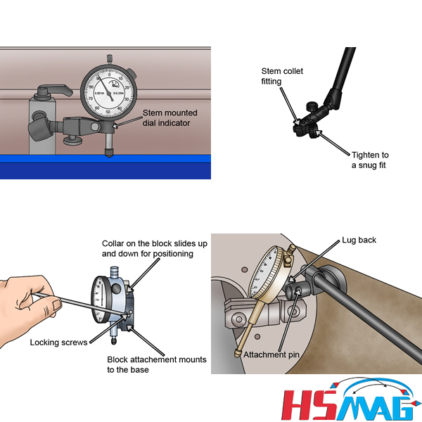 magnetic base hold dial indicator