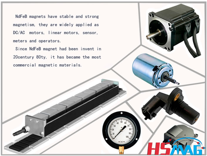 Main NdFeB Magnet Application DC Motor Linear Motor Sensor