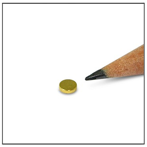 Discmagnet 4 x 1mm N45 Gold