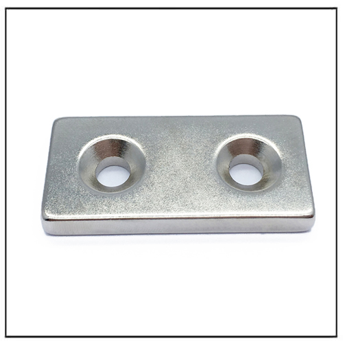 Block Neodymium Magnets With Countersunk Holes