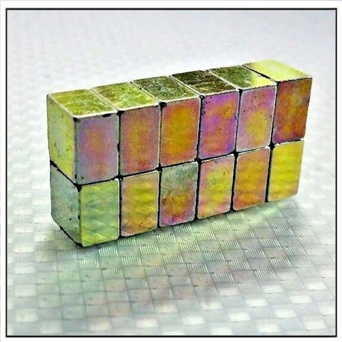Color Zinc Plated Block Neodymium Magnets N52