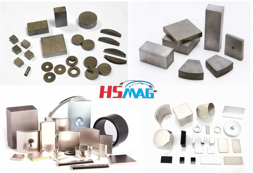 NdFeB and SmCo magnets