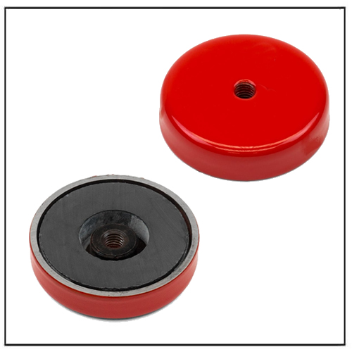 Ferrite Limpet Pot Magnet with M6 Threaded Hole