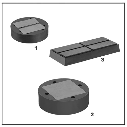 Plastic Encased Nonmarring Ceramic Magnets